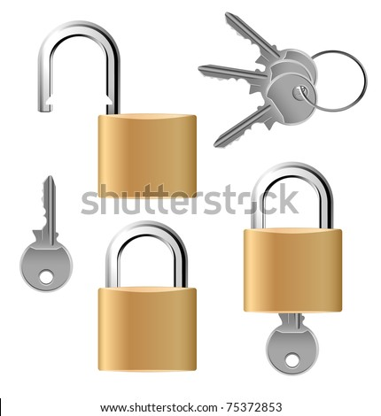 Padlock set with keys