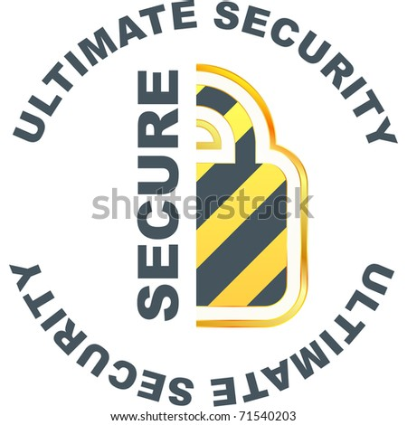 Padlock. Ultimate security. Vector illustration.