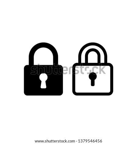 padlock vector icon, lock icon in trendy flat design  Stock photo ©