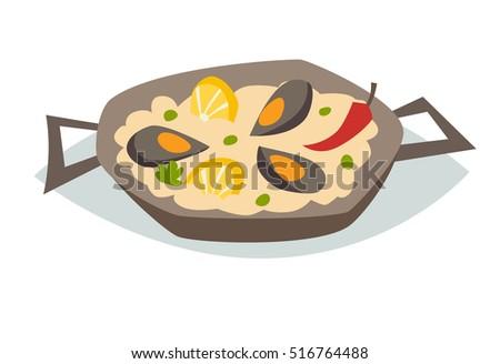 Paella Spaans Eten Download Gratis Vectorkunst En Andere