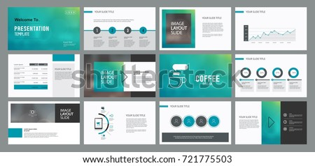 Page layout design template for presentation slide and brochure  with info graphic  elements design.