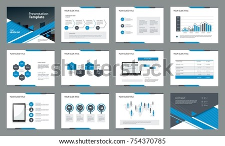 page layout design with info graphic element template for presentation , brochure and report concept