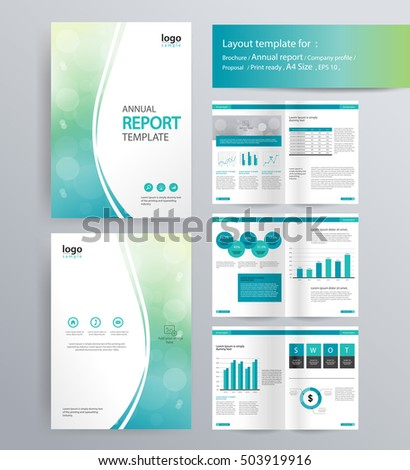 Page Layout For Company Profile Annual Report Brochure And Flyer Template