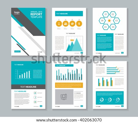 Company Business Cover Page Brochure Vector Design Template - Company profile brochure template
