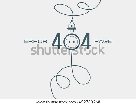 404 Error Page Template - Download Free Vectors, Clipart