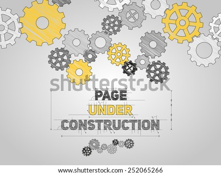 page under construction concept