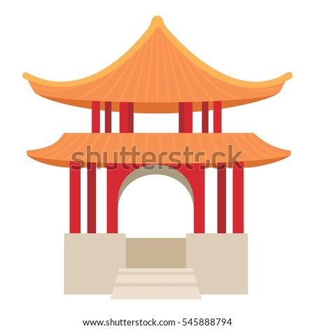 pagoda icon cartoon