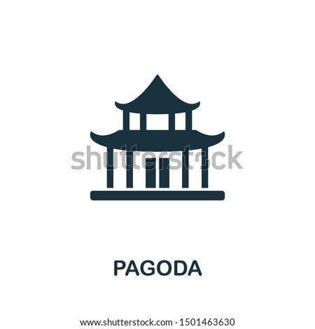 pagoda icon vector illustration