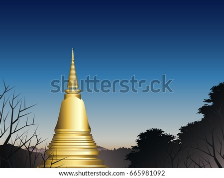 pagoda in deep forest