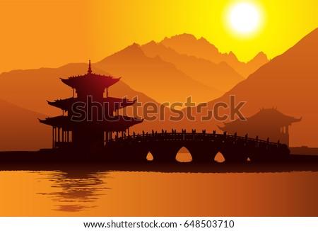 Pagoda in Lijiang, Yunnan, China