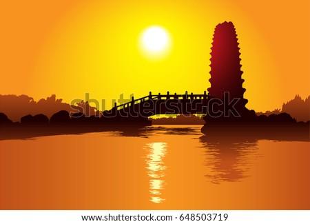 pagoda in xian  china