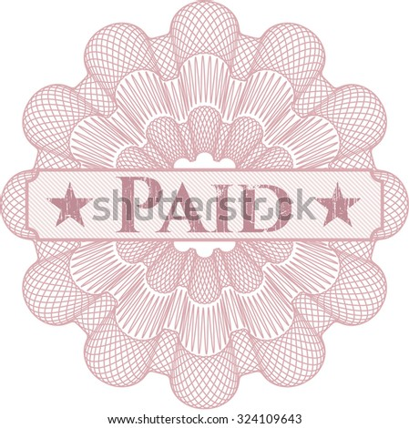 Paid abstract linear rosette
