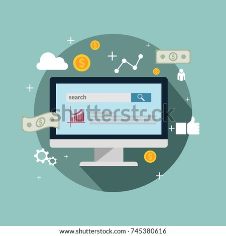 Paid advertising concept banner design eps 10 vector #745380616