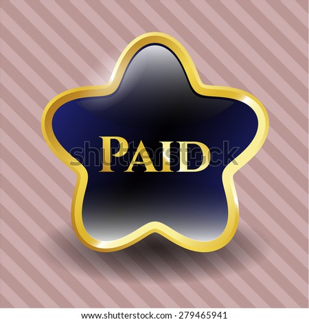Paid gold shiny star with pink background