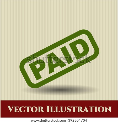 Paid icon vector illustration