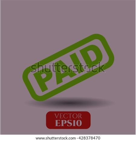 paid icon vector symbol flat eps jpg app web concept website