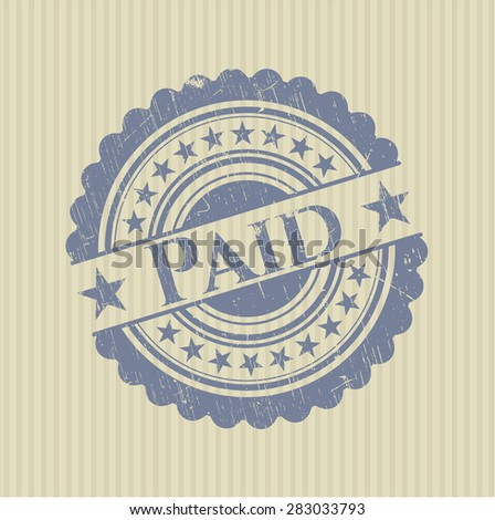 Paid rubber grunge stamp