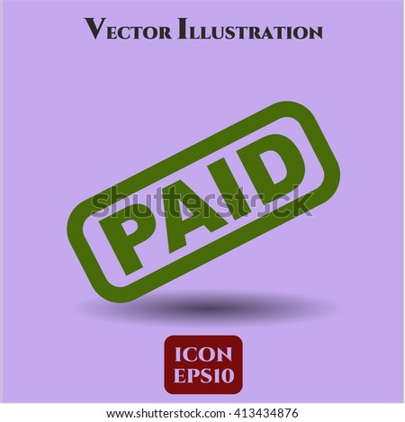 Paid vector icon
