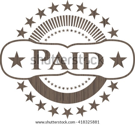 Paid wood emblem