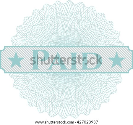 Paid written inside abstract linear rosette