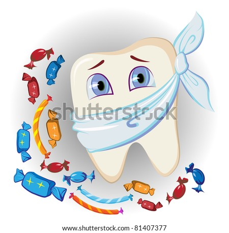 painful tooth and sweets