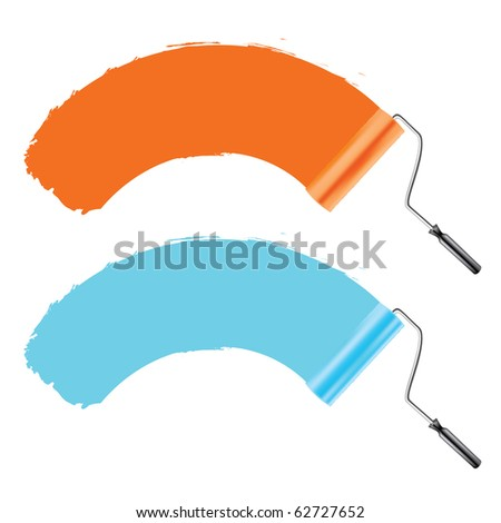 paint accessories - stock vector