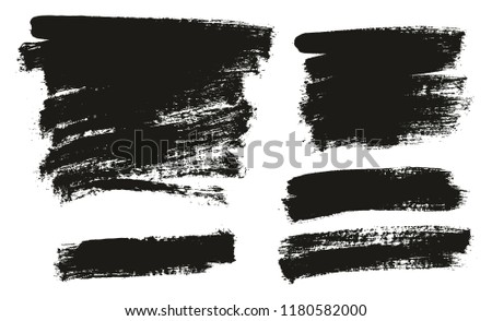Paint Brush Background High Detail Abstract Vector Background Set 136