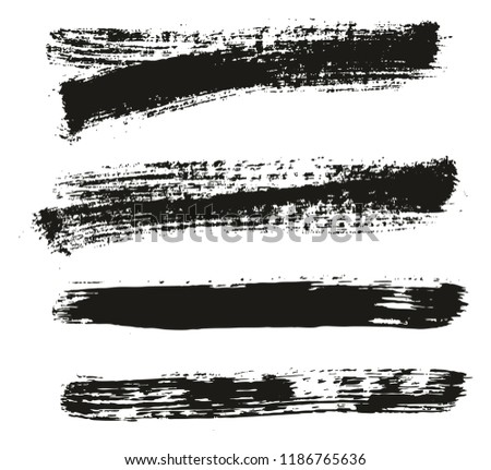 Paint Brush Background & Lines High Detail Abstract Vector Background Mix Set 48 #1186765636