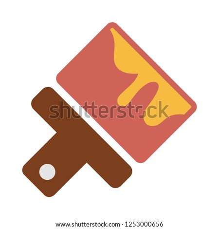 Paint brush icon vector, solid logo illustration, pictogram isolated