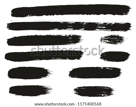Paint Brush Lines High Detail Abstract Vector Background Set 63