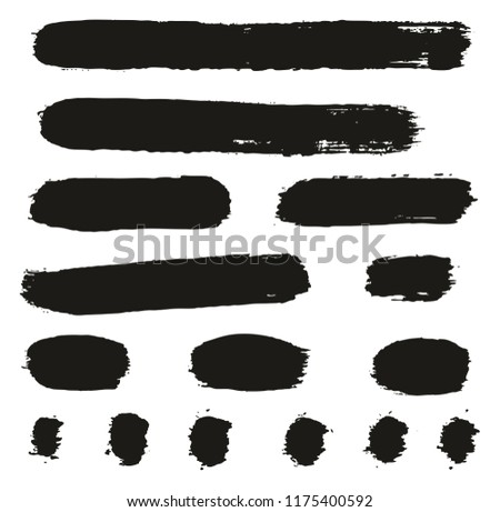 Paint Brush Lines High Detail Abstract Vector Background Set 73 #1175400592