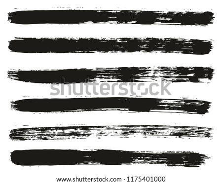 Paint Brush Lines High Detail Abstract Vector Background Set 10 #1175401000