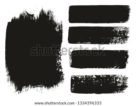 Paint Brush Medium Background & Lines High Detail Abstract Vector Background Mix Set 12