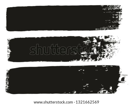 Paint Brush Medium Lines High Detail Abstract Vector Background Set 72 #1321662569