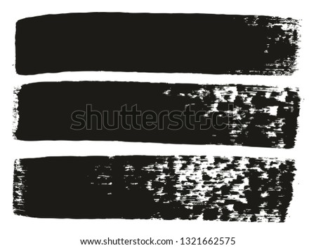 Paint Brush Medium Lines High Detail Abstract Vector Background Set 75 #1321662575
