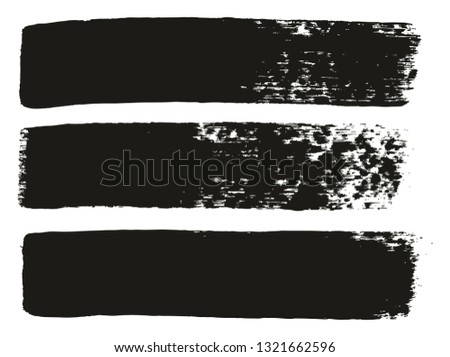 Paint Brush Medium Lines High Detail Abstract Vector Background Set 79 #1321662596
