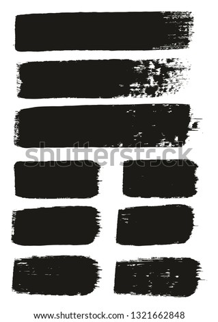 Paint Brush Medium Lines High Detail Abstract Vector Background Set 152