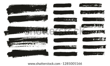 Paint Brush Thin Background & Lines High Detail Abstract Vector Background Mix Set 98 #1285005166
