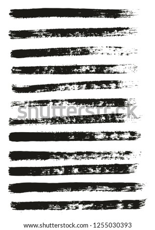 Paint Brush Thin Lines High Detail Abstract Vector Background Set 12 #1255030393
