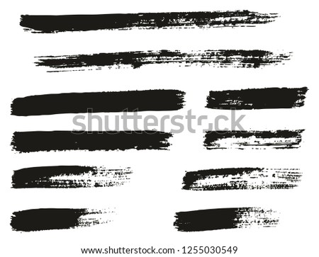 Paint Brush Thin Lines High Detail Abstract Vector Background Set 135 #1255030549