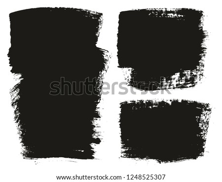 Paint Brush Wide Background High Detail Abstract Vector Background Set 117