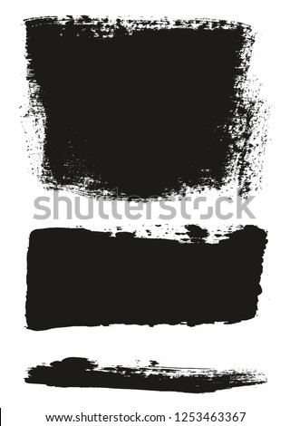 Paint Brush Wide Background & Lines High Detail Abstract Vector Background Mix Set 62