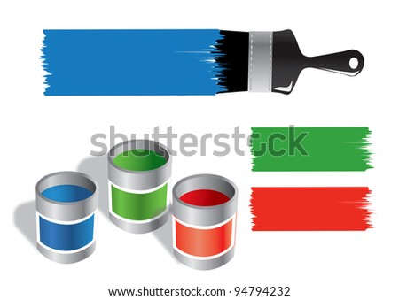 Paint Bucket Silhouette Paint Bucket And Brush Vector