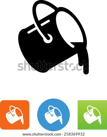 paint bucket pouring icon