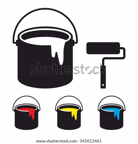 paint bucket set and paint