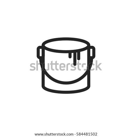 paint bucket vector icon  color