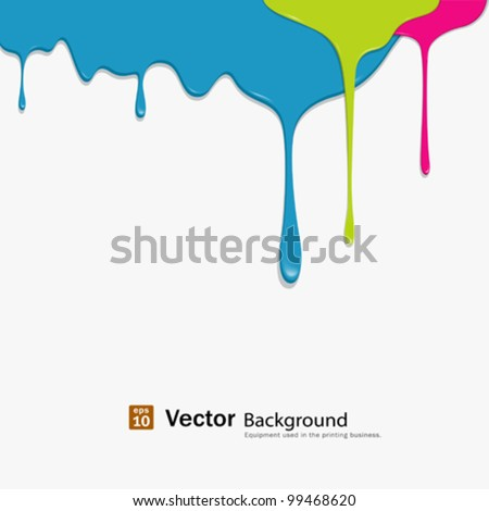 paint colorful dripping