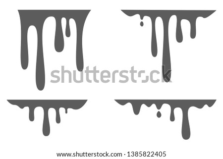 Paint Dripping, Stains, Chocolate Dripping, Liquid, Silhouette, inks dripping, paint flows, color easy to edit, transparent background