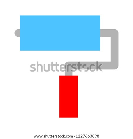 paint, paint brush, rollers, painting wall, paint roller isolated