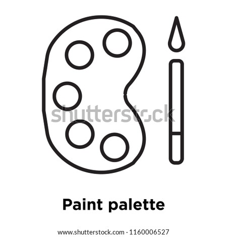 Paint palette icon vector isolated on white background, Paint palette transparent sign , sign and symbols in thin linear outline style